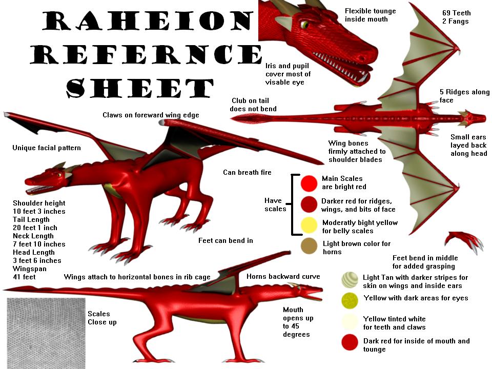 Raheion Refernce Sheet