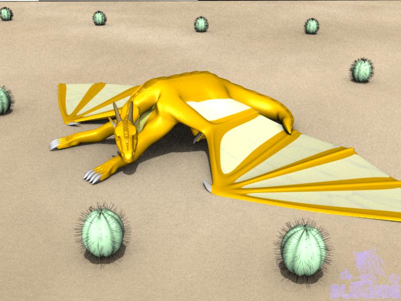 Sunbatheing Dragon