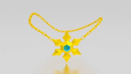 Golden Snowflake Pendant Necklace