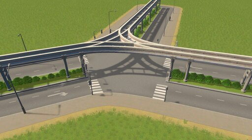 Steam: 4-Lane Monorail with Plants