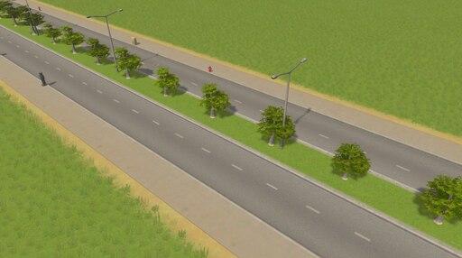 Steam: Four Lane road w/ Trees & Grass
