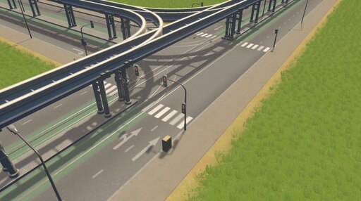 Steam: Medium Road with Monorail and Tram