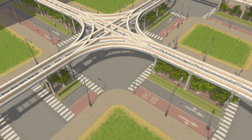 Steam: Road with Monorail and Bus Lanes