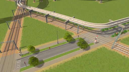 Steam: Train Tracks With Monorail