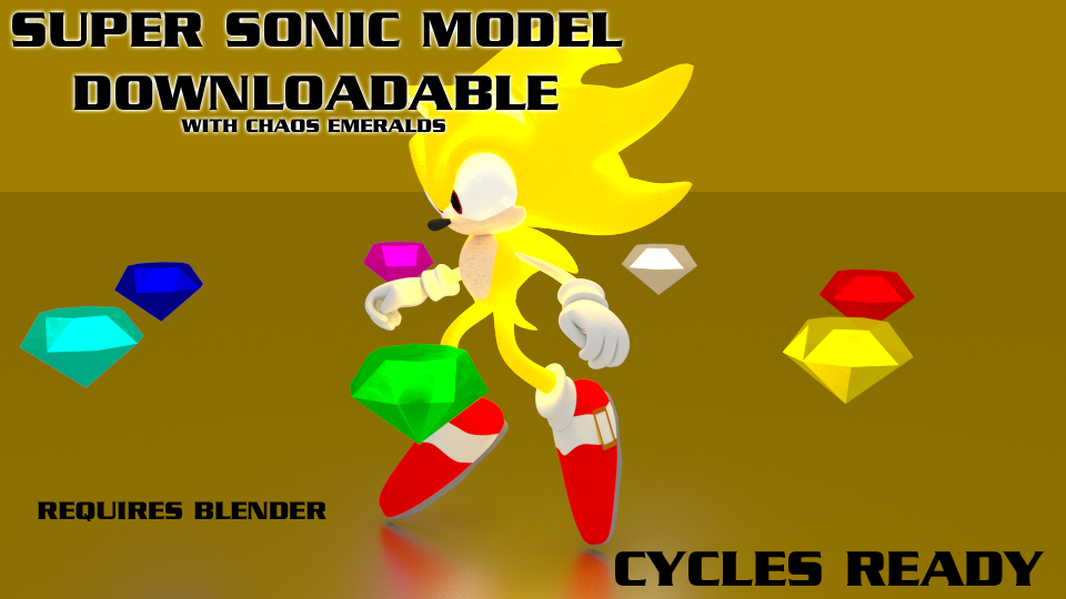 Super Sonic & Chaos Emeralds